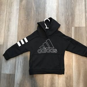 Adidas black hoodie with white